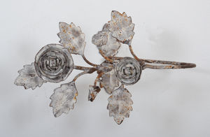 Coquecigrues - paire d' embrasses métal roses (2) - Raffhalter