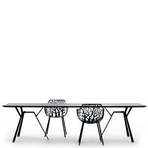 FAST - radice quadra - table noire en aluminium 290 x 90 - Rechteckiger Esstisch