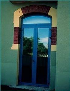 Wicona -   - Verglaste Eingangstür