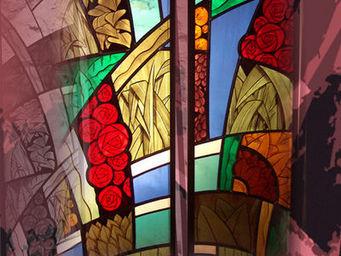 Atelier 1..2..3 vitrail - à l'aube... - Buntglasfenster