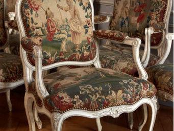 Camille Burgi - suite de six fauteuils à la reine - Sessel à La Reine Stil