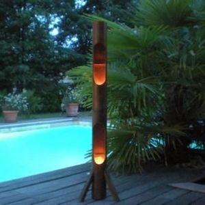 atoutdeco.com - porte-bougies en bambou - Kerzenhalter