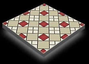 Mosaic del sur -  - Zementfliese
