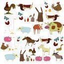 DECOLOOPIO - stickers déco : frise animaux de la ferme - Kinderklebdekor