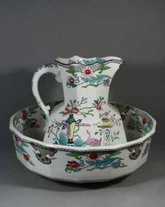 EARLE D VANDEKAR OF KNIGHTSBRIDGE - a mason's ironstone jug and basin - Karaffe