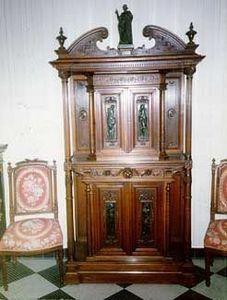 Eliane Cohen - meuble en noyer - Kabinettschrank