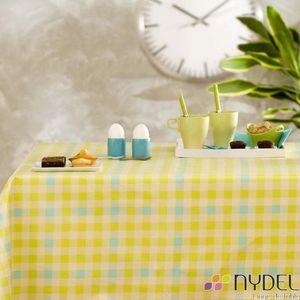 Nydel - vichy lemon - Plastifizierte Tischdecke