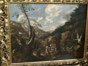 LA CONGREGA ANTICHITA' - peinture de paysage - dipinto paesaggio - Ölgemelde Auf Leinwand Und Holztafel