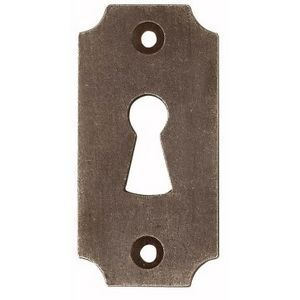 FERRURES ET PATINES - entree de clef en fer vieilli pour porte d'interi - Schlüsselloch