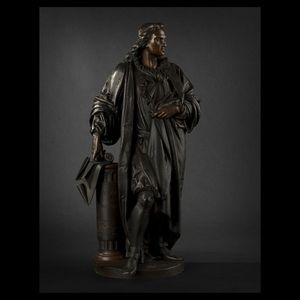 Expertissim - carrier bronze représentant denis papin - Skulptur