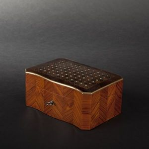 Expertissim - boîte à mouchoirs en placage de bois de rose marqu - Papiertaschentuch Behälter