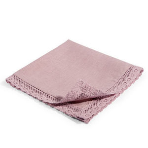 Maisons du monde - serviette lin lilas - Tisch Serviette