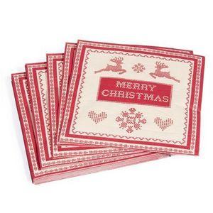 Maisons du monde - serviette merry christmas x20 - Papierserviette
