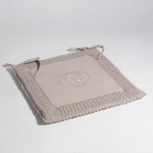 Maisons du monde - galette crochet gris - Stuhlkissen