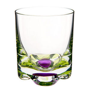 Maisons du monde - gobelet flower vert-rose - Whiskyglas