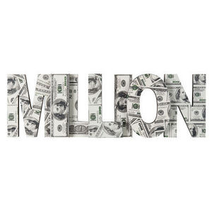 Maisons du monde - déco murale million - Dekorativer Buchstabe