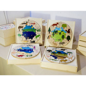 ANIM'EN BOIS - puzzle milieu naturel mare (2-5 ans) - Holzspiel