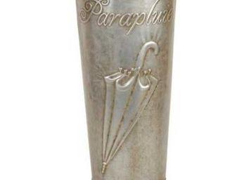 Antic Line Creations - porte parapluies nostalgique zinc vieilli 50x22cm - Schirmständer