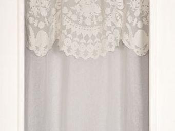 Coquecigrues - rideau à cantonnière castille ivoire - Fertigvorhänge