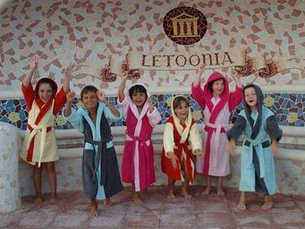SIRETEX - SENSEI - peignoir enfant à capuche bicolore 420gr/m² - Kinderbademantel