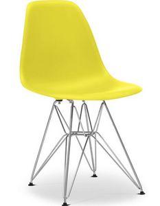 Charles & Ray Eames - chaise jaune dsr charles eames lot de 4 - Rezeptionsstuhl