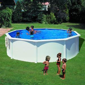 GRE - piscine ronde bora bora - 350 x 120 cm - Pool Mit Stahlohrkasten