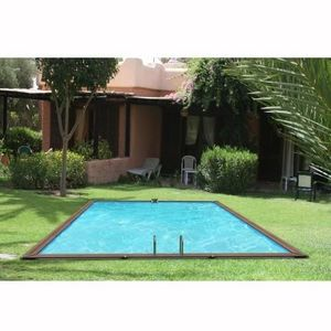 Christaline - gold piscine bois evolux 825x515x147cm - Pool Mit Holzumrandung