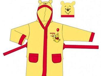 DISNEY - peignoir winnie l'ourson jaune et rouge 6/8ans -  - Kinderbademantel