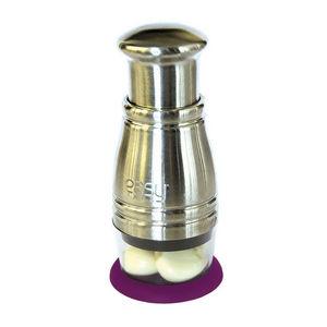 WHITE LABEL - hachoir efficacité top chrono en métal avec socle - Zitruspresse