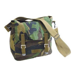 WHITE LABEL - sac besace à rabat toile de coton 2 poches intérie - Tasche