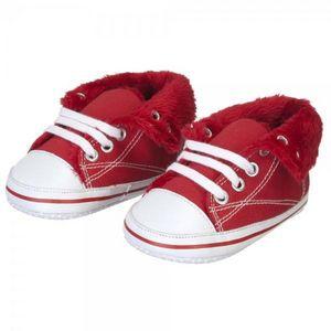 La Chaise Longue - chaussons basket rouge gm - Kinder Hausschuh