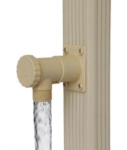 jardieco - collecteur d'eau blanc pour descente rectangulair - Regenwassersammler