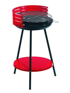 Dalper - barbecue à charbon avec tablette en acier 42x79cm - Holzkohlegrill