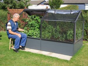 Growcamp - potager de jardin surélevé de 50cm avec serre 240x - Mini Treibhaus