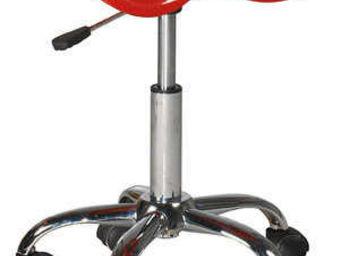 ID'CLIK - tabouret de bureau paris rouge 44x36x66cm - Verstellbarer Hocker
