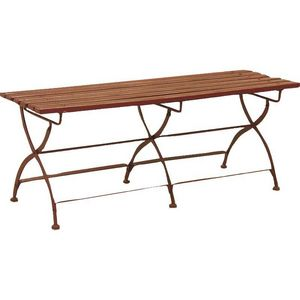 Aubry-Gaspard - banc de jardin pliant en métal et bois laqué 120x3 - Gartenbank