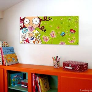 SERIE GOLO - toile imprimée la diseuse de printemps 78x38cm - Dekorative Gemälde Für Kinder