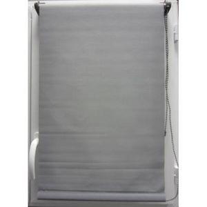 Luance - store enrouleur occultant gris 45x180cm - Rollo