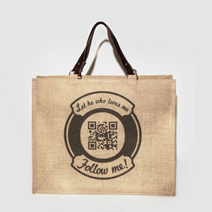 JOVENS - cabas en jute et cuir follow me - Handtasche