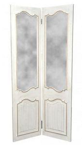 Demeure et Jardin - paravent miroir à 2 feuilles - Paravent