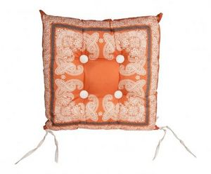 Demeure et Jardin - galette de chaise orange - Stuhlkissen