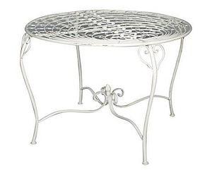 Demeure et Jardin - table paon - Rundes Gartentisch