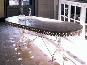 PROVENCE ET FILS - table basilic ovale longueur 160cm - Ovaler Esstisch
