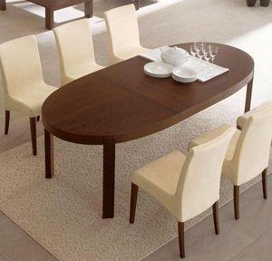 Calligaris - table repas extensible ovale atelier 170x100 de ca - Ovaler Esstisch