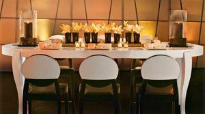 Calligaris - table repas extensible ovale regency blanche 170x1 - Ovaler Esstisch