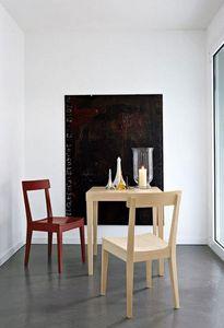 Calligaris - petite table repas la locanda 70x70 en hêtre de ca - Quadratischer Esstisch