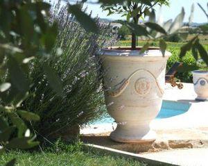 POTERIE TERRE FIGUIERE - cerusé - Anduze Vase