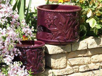 Les Poteries D'albi - fleurs de lys - Garten Blumentopf