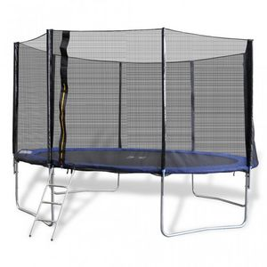 WHITE LABEL - trampoline 12' 4 pieds + filet de sécurité - Trampolin