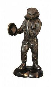 Demeure et Jardin - chien muscien en bronze - Kleine Statue